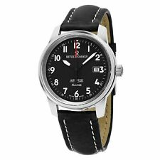 Revue Thommen Airspeed XLarge Mens Swiss Made Automatic Military Watch Black NEW