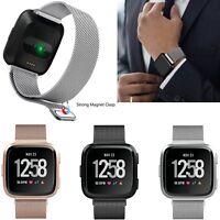 Edelstahl Ersatz Armband Uhrenarmbänder Strap Magnet für Fitbit Versa Watch Uhr