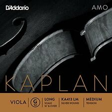 D'Addario Kaplan Amo Viola G String, Long Scale, Medium Tension