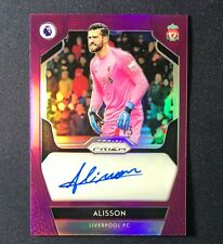 Alisson Liverpool 2019-20 Panini Prizm EPL Signatures Purple Auto #90/99
