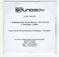 (GV75) Breakage Feat Roots Manuva - Run 'Em Out - DJ CD