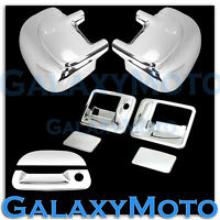 Ford Super Duty F250+F350 Chrome Mirror+2 Door Handle w/o PSG KH+Tailgate Cover