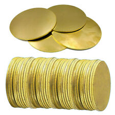 Thick:0.5-3mm OD 50-100mm H62 Solid Brass Round Discs Flat Plate Blanks Hot