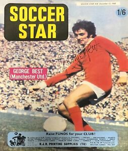 George Best signed Soccer Star Magazine Front Cover 13 December 1968