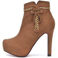 Damen Ankle Boots Stiefeletten High Heel Pumps Absatz Schuhe Schwarz Samt Strass