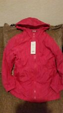 GIRLS AGED 8 TO 9 WINTER HOODED COAT SHOWER PROOF PADDED ZIPPED NEW WITH TAGS