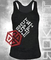 """BattleBox and RokFit """"Shut Up & Lift"""" Motivation Women T-Shirt CrossFit"""