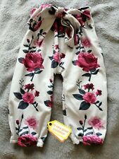 Baby Girl Floral Trousers Size 70 / 6-12 Months UK