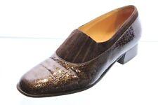 Van Bommel Schuhe Trotteur Slipper grau braun Lackleder Vario Gr. 40 (UK 6,5)