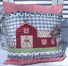 Kissenbezug LANDHAUS 50x50 Patchwork blau rot grün beige Karo Punkte cushion
