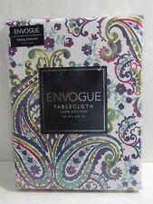 Envogue Fabric Tablecloth 60 x 120 Oblong Multi-Colored Paisley 100% Cotton
