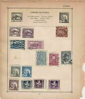 Czechoslovakia Stamps on Album Page ref  R 18865
