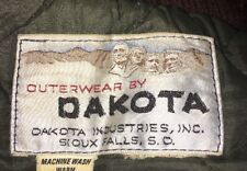 Vintage Outwear By Dakota- Full Zip Green Parka Style Quilted Jacket- Mens L