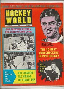 1969 December Hockey World Phil Esposito  Boston Bruins Rogatien Vachon