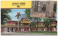 Linen Postcard Lariat Lodge in Rock Springs, Wyoming~107606
