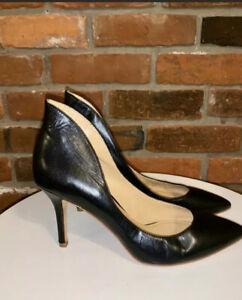 Enzo Angiolini Women's Shoes Black Leather Fauson Pump Size 9