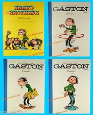 Lot de 4 tomes BD toilés GASTON LAGAFFE 1er albums + Bravo les Brothers Franquin