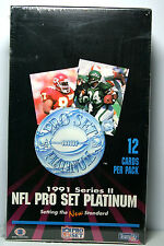 Pro Set 1991 Series 2 Platinum NFL Football Trading Card Box New Factory Sealed