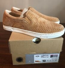 UGG FIERCE GEO PERORATED 1011250 TAN WOMAN SNEAKERS SZ 10 (EXCLUSIVE COLOR) NEW*