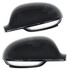 Vw golf MK5 noir métallisé gauche droit paire porte wing mirror covers caps housing