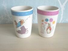 Pair Beatrix Potter Peter Rabbit & Flopsy Bunny Organic Bamboo Drinking Cups