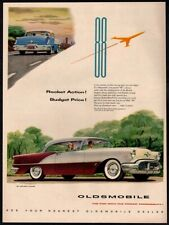 1956 OLDSMOBILE 88 Holiday Coupe - Man & Woman Takes Roadtrip - Retro VINTAGE AD