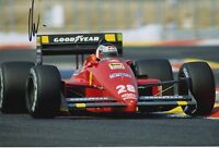 Gerhard Berger Hand Signed Ferrari 12x8 Photo F1 5.