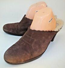 UGG Australia Womens Shoes Mules 5563 US 11 Brown Suede Fur Lined Heels 4927