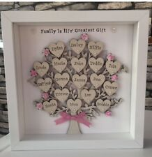 💛Personalised Family Tree, Birthday, Grandparents, Mothers Day Framed Gift