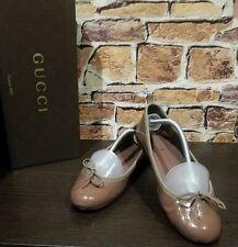 🌹 $595 Gucci Guccissima Ballet EU 38 US 8 Leather Flats Monogram  Beige