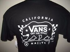 Vans BOYS SIZE MEDIUM skate state Black Cotton Shirt New in Package with tags!