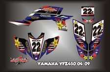 Yamaha YFZ 450 04-09  SEMI CUSTOM GRAPHICS KIT Ricoo