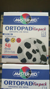 Ortopad Fun Pack Orthoptic Eye Patch Junior Size Box 50 Patches - Latex Free