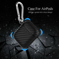 Earphone Case Skin Cover Carbon Fiber Dust Plug Fitted Case for Apple AirPods HQ