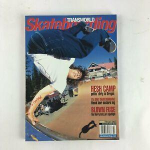 February 2002 Transworld Skateboarding Magazine Hesh Camp Blown Fuse Kerry Getz