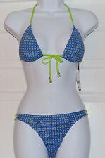 Polo Ralph Lauren 2-Piece Bikini Set T-back Top Hipster Bottom Sz S Swimsuit K22