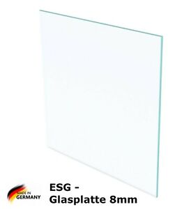 ESG Sicherheitsglas - Glasplatte/Glasscheibe/Schutzglas/Ablage - 8mm Stärke