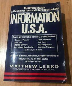 Information USA by Matthew Lesko - Printed 1983