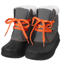 Gymboree Nwt Boys Grey gray Orange Winter Snow Boots Shoes size 9
