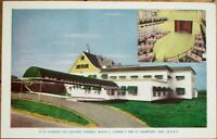 Champigny, Quebec, Canada 1950s Restaurant Postcard: Auberge des Quatres Chemins
