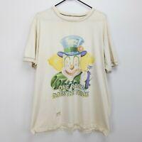 Vintage 90's Unisex PEZ T Shirt Size XL White Clown One Flick Does the Trick