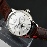 Ossna 41mm White Dial Steel Case Automatic Men's Date&Day Mechanical Watch 2164
