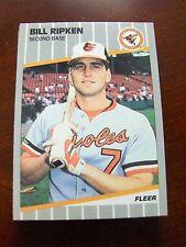 ORIOLES 1989 FLEER 23 CARD TEAM SET, RIPKEN, MURRAY, ANDERSON, MILACKI RC, SCHU+
