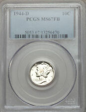 1944-D 10C MS67 Full Bands PCGS - Exceptional Coin with Huge Mint Luster! (995)+