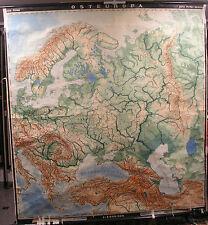Schulwandkarte Map Eastern Europe Poland Russia Scandinavia 195x210cm 1954