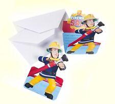 Einladungskarten 8-er Papier Feuerwehrmann Sam  Kindergeburtstag Fireman Sam