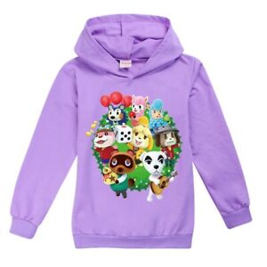 Animal Crossing Kid Boy Girl Child Hoodies Sweatshirt Jumper Hooded Tee Top Gift