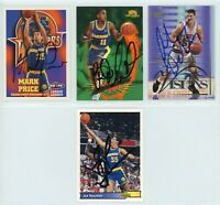 GOLDEN STATE WARRIORS Autographed Basketball Card Lot - 4 Autos MARK PRICE