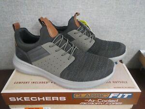 Skechers Streetwear Memory Foam Men's Slip On Shoes Grey/Black Size 10.5 ~NEW~