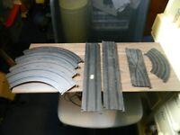 vintage Scalextric track 8 pieces